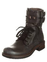 Romagnoli Leder-Boots in Anthrazit