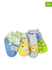 Pitter Patter 4er-Set: Socken in Blau/ Gelb/ Grün