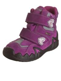 """Primigi Leder-Boots """"Flosy"""" in Lila/ Anthrazit"""