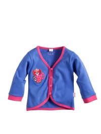 Puk Design Jersey-Cardigan in blau/ fuchsia