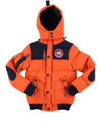 """Geographical Norway Jacke """"Vortex"""" in Orange/ Dunkelblau"""