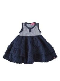 ZieZoo Jerseykleid mit ausladendem Rock in dunkelblau