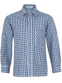 Isartrachten Trachtenhemd in blau/ weiß