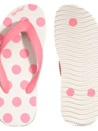 "Flip Flop Flip Flops ""Miss Dotty Kids"" in Weiß/ Pink"